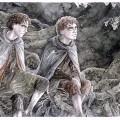 Merry und Pippin im Fangorn-Wald