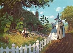 Gandalf bei Bilbo zu Besuch - © by G. & T. Hildebrandt
