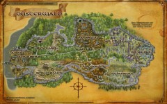 Karte von Düsterwald, Herr der Ringe Online, © by Turbine