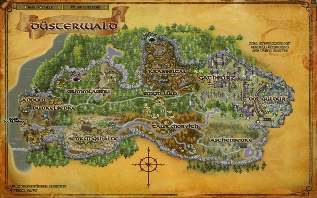 Mittelerde Karte Herr Der Ringe.Dusterwald Legolas Heimat Faszination Tolkien