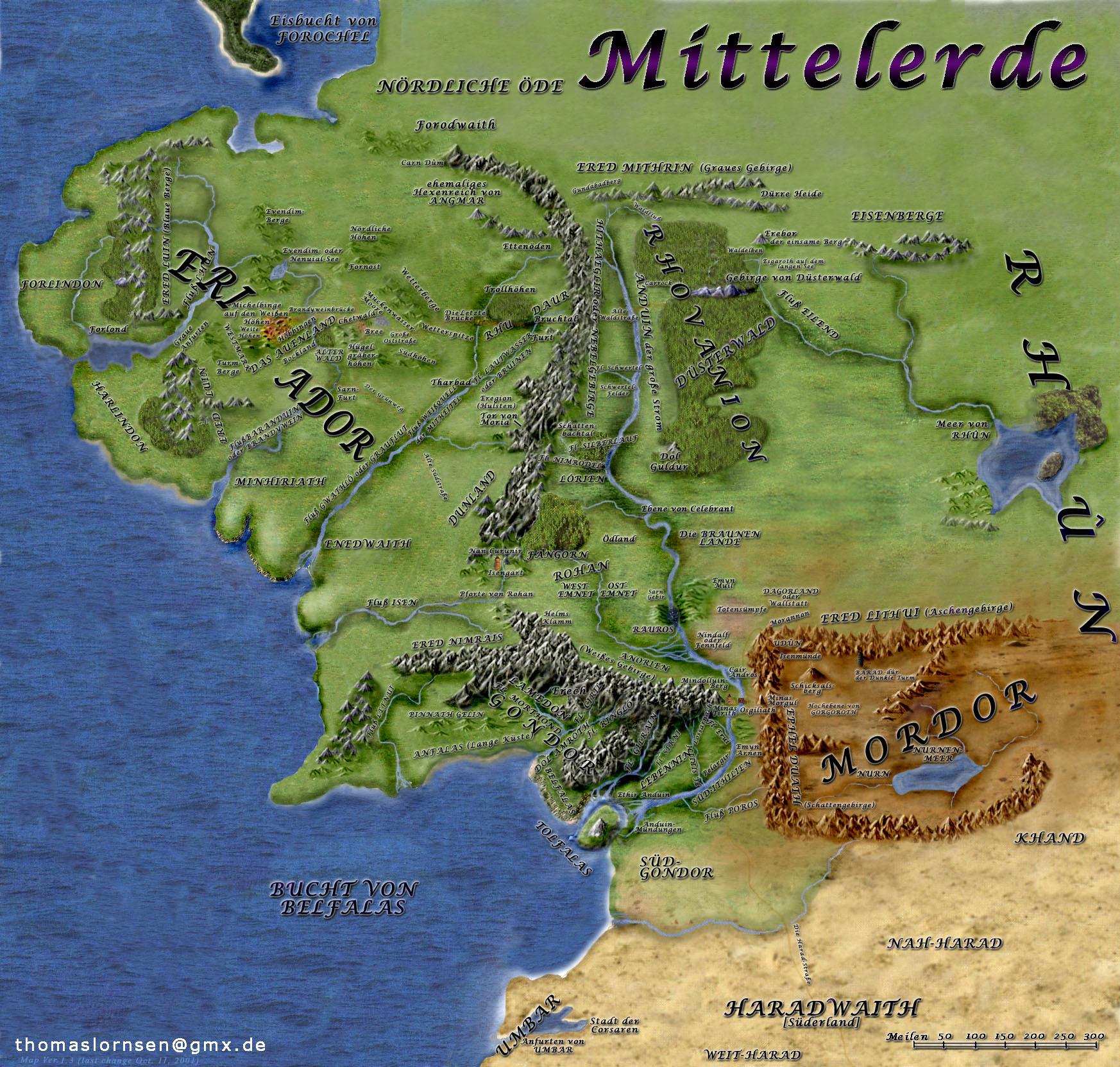 karte von mittelerde Karten von Tolkiens Mittelerde » Faszination Tolkien karte von mittelerde