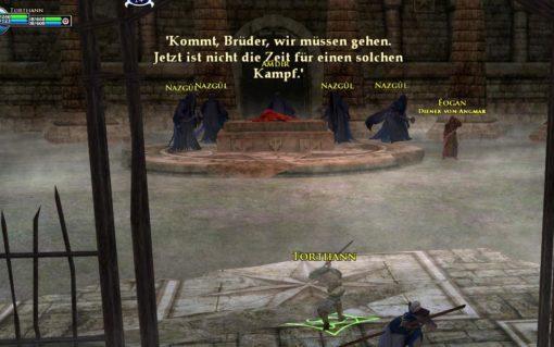 Kampf gegen die Nazgûl (Herr der Ringe Online, © by Turbine)