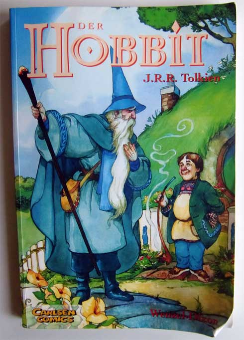 Tolkiens Hobbit als Comic: das Cover