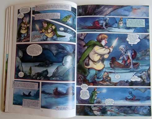 Tolkiens Hobbit als Comic: Bilbo trifft auf Gollum