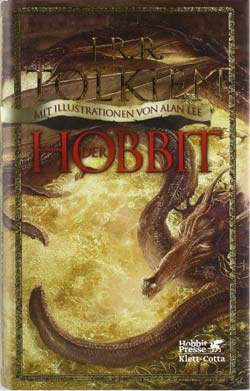 Hobbit-Buch mit Illustrationen von Alan Lee