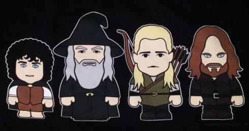 Herr der Ringe T-Shirt mit Cartoons