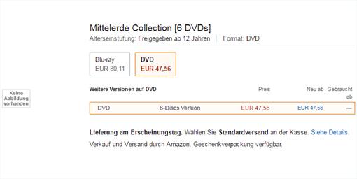 Info-Update vom 17.08.2016: es wird auch eine DVD-Version geben